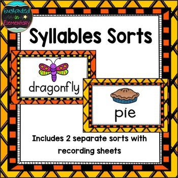 Syllables Sorts