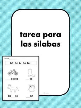 Syllables-Spanish