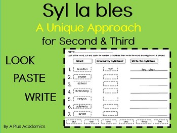 Syllables - A Different Approach - Second and Third