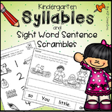 Syllables and Sight Words Sentence Scrambles Activities fo