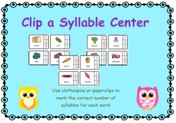 Syllables are a Hoot Clip a Syllable