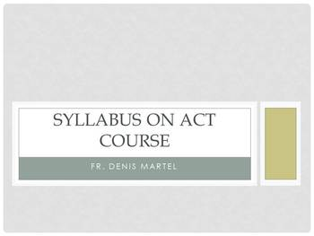 Syllabus on a course on the ACT