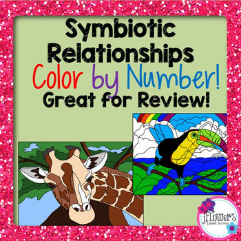 Symbiotic Relationships Color by Number Activity! Great fo