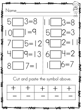 Morning Work Math: Symbol Sort (Addition and Subtraction)
