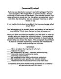 Symbolism Assessment - Symbol Sheet