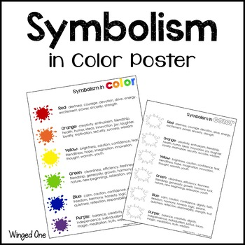 Symbolism in Color Poster