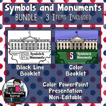 Symbols and Monuments BUNDLE {Flag, Capitol, Eagle, Libert