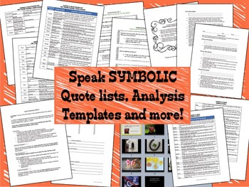 SYMBOLIC Quote List, Analysis Activities & Essay for the N