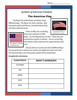 Symbols of American Freedom- Comprehension Passages