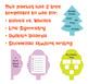 Symmetrical Tree Templates [Line Symmetry, Halves & Wholes]