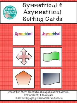 Symmetrical and Asymmetrical Picture Sorting Cards