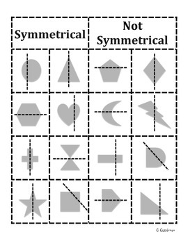 Symmetrical and Not Symmetrical