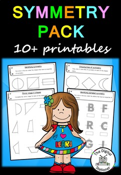 Symmetry - 10+ printable worksheets - Maths