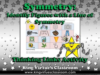 Symmetry: Identify Figures with a Line of Symmetry Thinkin