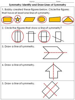 Symmetry: Identify and Draw Lines of Symmetry Practice She