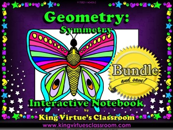 Symmetry Interactive Notebook BUNDLE - Geometry - Line of