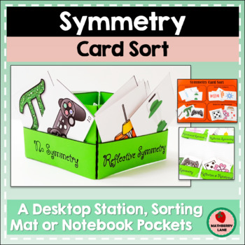 Symmetry Sorting Cards Activity Geometry Reflective Line R