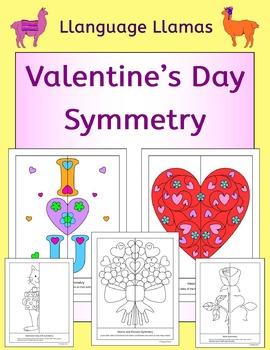 Symmetry - Valentine's Day - NO PREP geometry fun