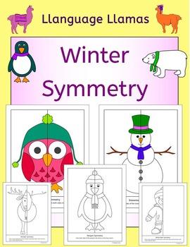 Symmetry - Winter theme - NO PREP Geometry fun