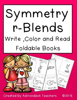 Symmetry r-Blends Color, Write and Read Foldable Books