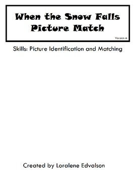 Symple Readers Week 15: Picture Match Activity