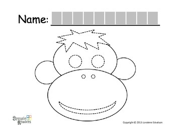 Symple Readers Week 17:  Monkey Tracing Activity