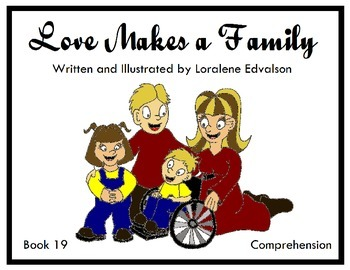 """Symple Reader's Week 19: """"Love Makes a Family"""" Comprehension Book"""