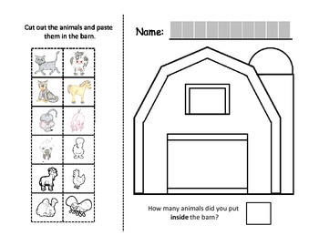 Symple Readers Week 5: Animals in the Barn.  Cutting Activity