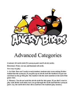 Synonym Angry Birds