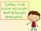 Synonym & Antonym Analogies