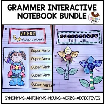 Synonym, Antonym, Noun, Verb, Adjective Interactive Notebo