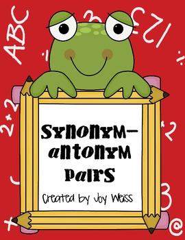 Synonym-Antonym Pair Up