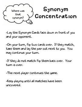 Synonym Concentration