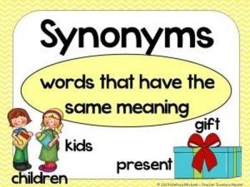 Synonym Game/Center Activity