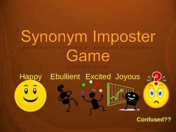 Synonym Imposter Game