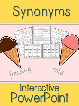 Synonym Interactive Powerpoint w/ Differentiated WS and Bo