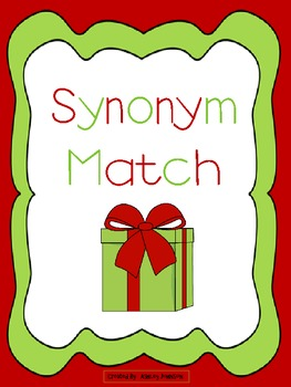 Synonym Match Christmas Theme