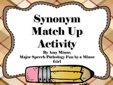 Speech Therapy: Synonym Match Up