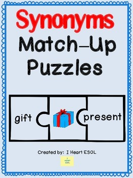 Synonyms Match-Up Puzzles