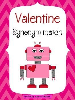 Synonym Match Valentine's Day