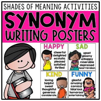 Synonym Posters, Show Don't Tell Details, Writing Activities