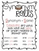 Synonym Rolls Synonym Literacy Center and Differentiated A