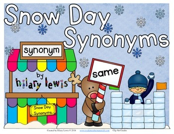 Synonym Snow Day Freebie