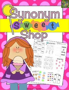 Synonym Sweet Shop- Cut and Paste Activities and Worksheets