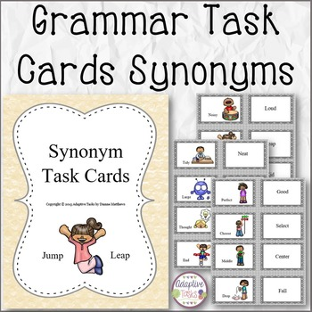 GRAMMAR TASK CARDS Synonyms