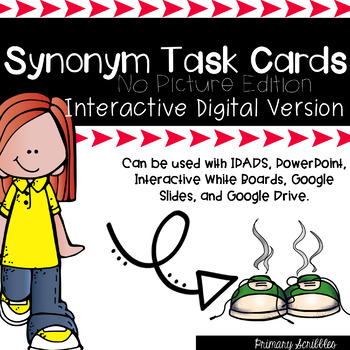 Synonym Task Cards Edition 2 Digital Version (No Pictures)