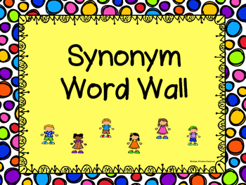 Synonym Word Wall