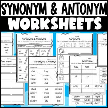 Synonym and Antonym Center Activities