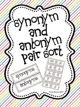 Synonym and Antonym Pair Sort