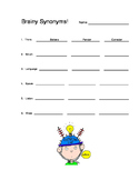 Synonym and Antonym Practice Sheets